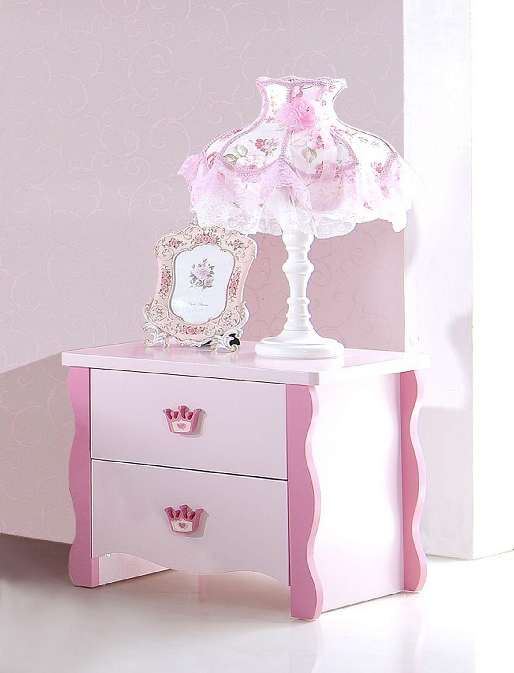 Table De Chevet Enfant Design Princesse Rose Table De Chevet Enfant Chevet Enfant Table De Chevet