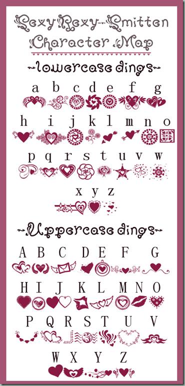 Pink Dingbats Dingbat fonts, Lettering fonts