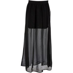 1e53513acb long sheer skirt with short skirt underneath - Google Search ...