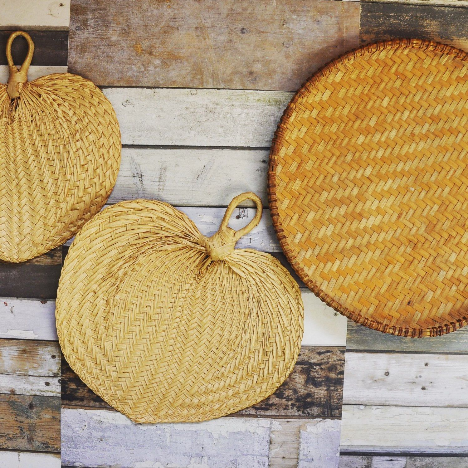 Basket wall decor just listed! | FernHomeVintage | Pinterest | Small ...