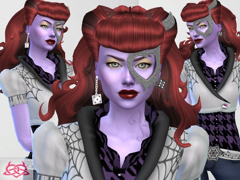 Monster high operetta hairstyle mask shoes tattoo outfits skin detail earrings found in - Masque monster high ...