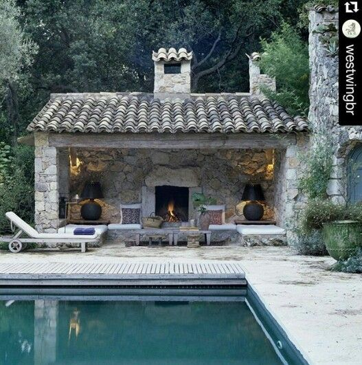 pin by julie vaught on fence ideas pinterest casas casas de campo and patio con piscina. Black Bedroom Furniture Sets. Home Design Ideas