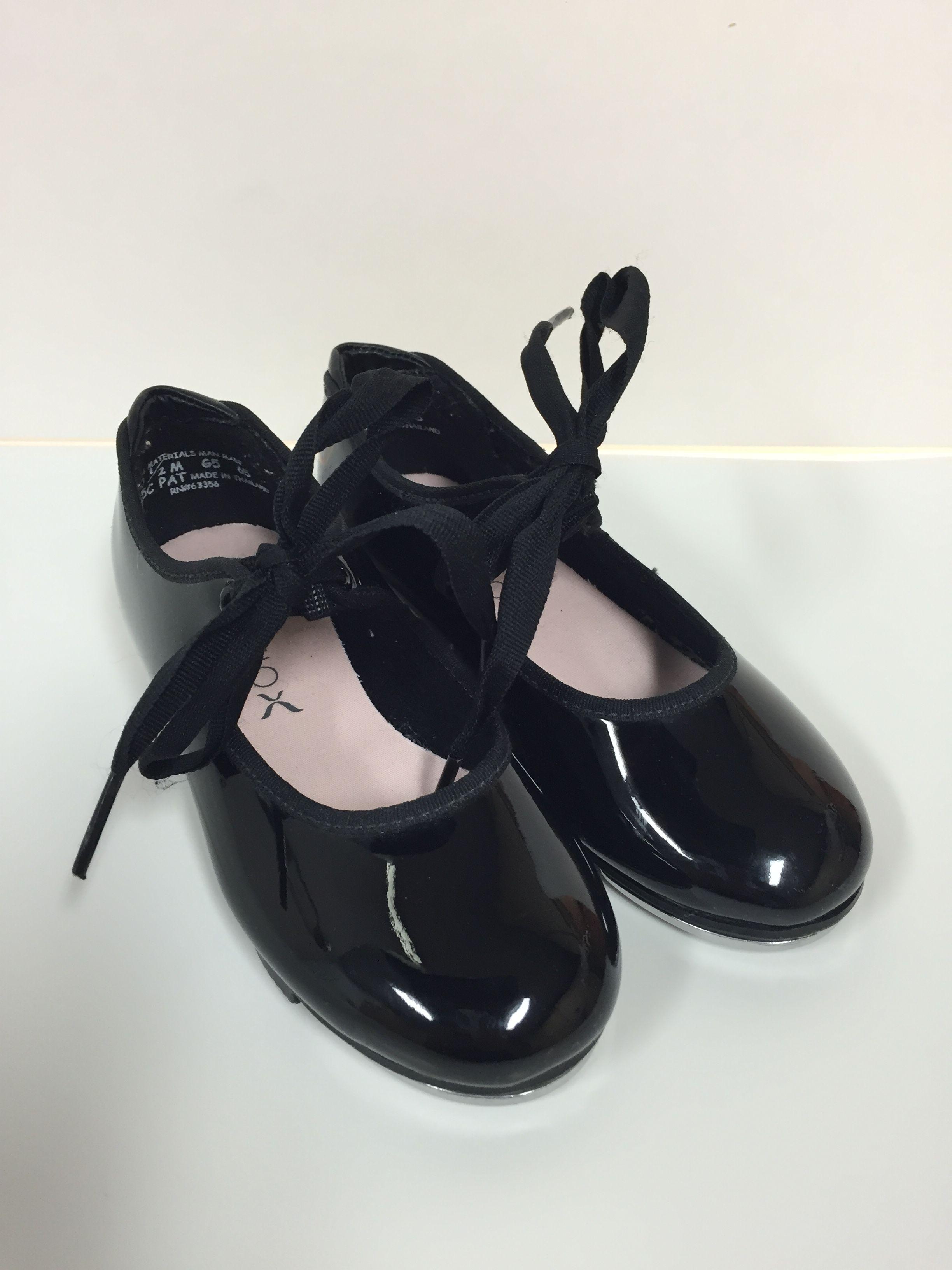 free shipping aliexpress temperament shoes Capezio 10.5 Girls Toddler Kids Black Patent Tap Dance Shoes ...