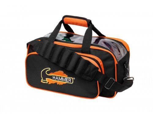 Hammer Double Bowling Ball Tote Black Orange By Hammer 31 95 Two Ball Shoulder Bag Heavy Duty Fabric With Extra Stitch Bowling Bags Bags Shoulder Tote