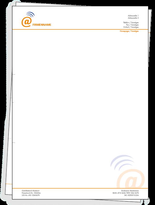 Briefpapier Mit Gratis Vorlagen Bedrucken Bestellen Bei Onlineprintxxl Briefpapier Information Technik Internet C Briefpapier Briefpapier Vorlage Papier