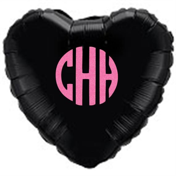 Personalised heart shape Foil balloon. monogram balloons, 18inches personalised balloons, mylar balloons, foil balloon, balloon in a box