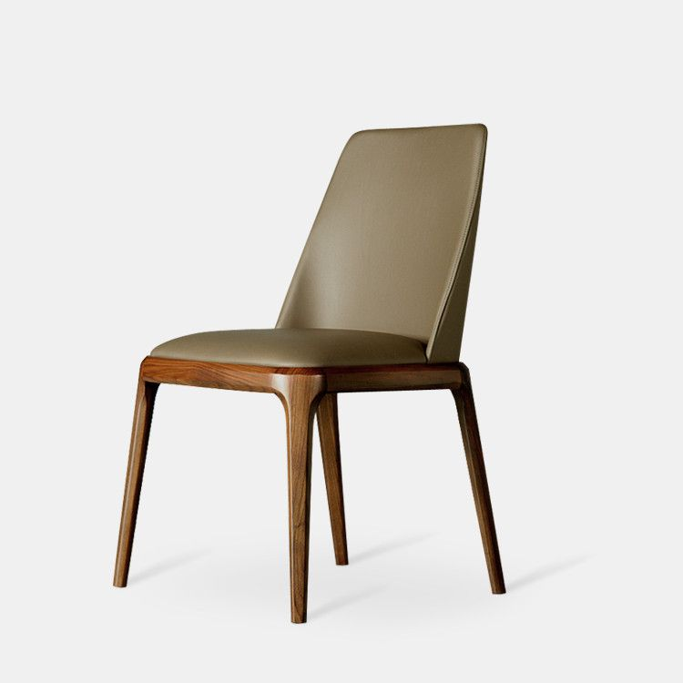 Modern Dining Chair Armchair With Leather Upholstery Cushion Seat