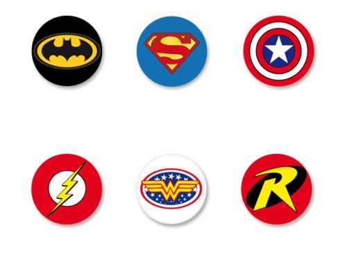 "Pin Button Badge Ø25mm 1/"" Wonder Woman Comics Super Heros"