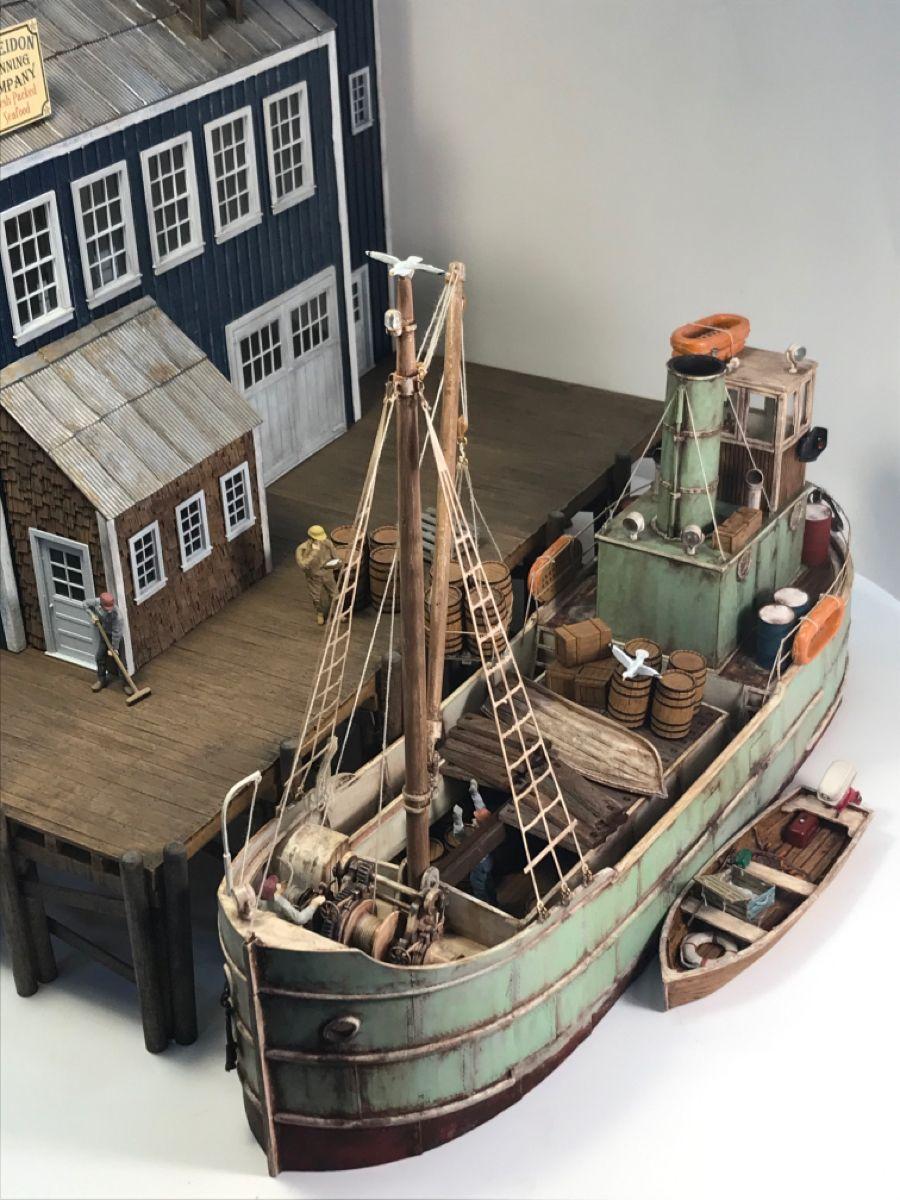 O 1 48 Scale Resin Kits Model Boats Building Model Train Scenery Model Boats