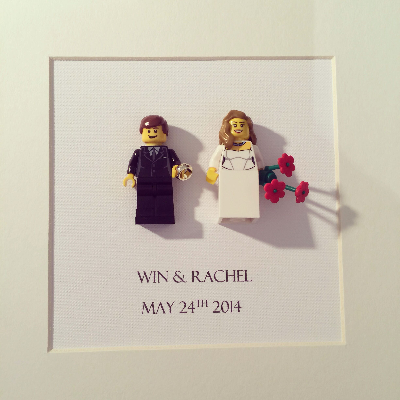 Mr & mrs Lego wedding frame £30