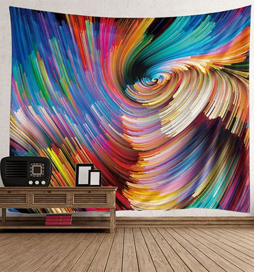 wall hanging colorful vortex art tapestry hanging wall on walls coveralls website id=56365