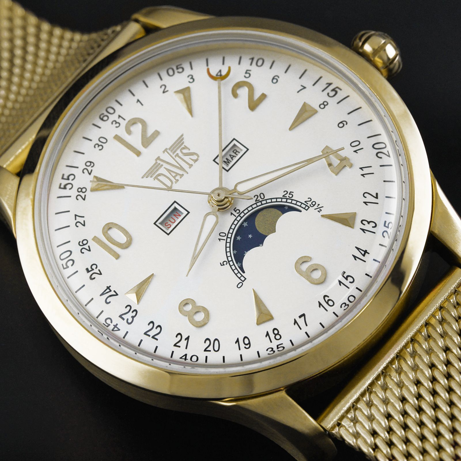 Montre Phase de Lune 1509MB   Moon Phase Watches Montres