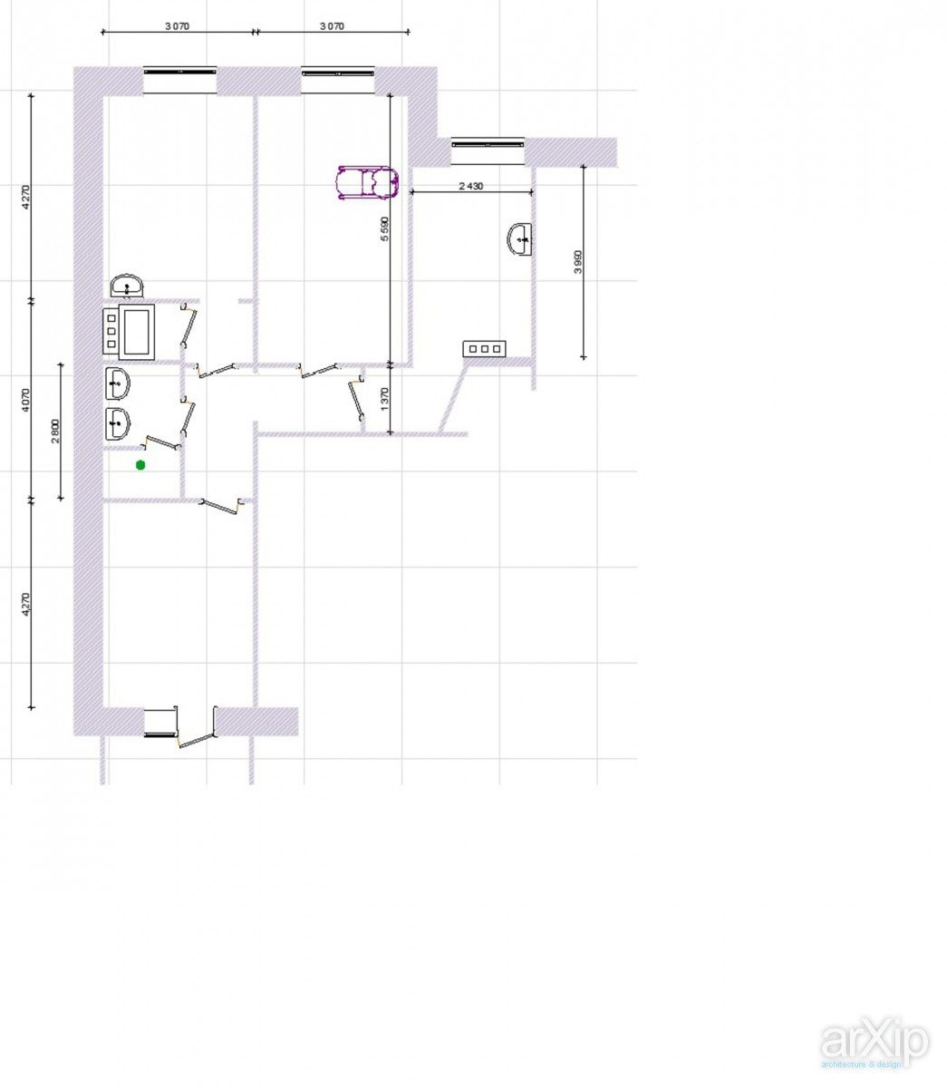 салон красоты: интерьер, зd визуализация #interiordesign #3dvisualization arXip.com