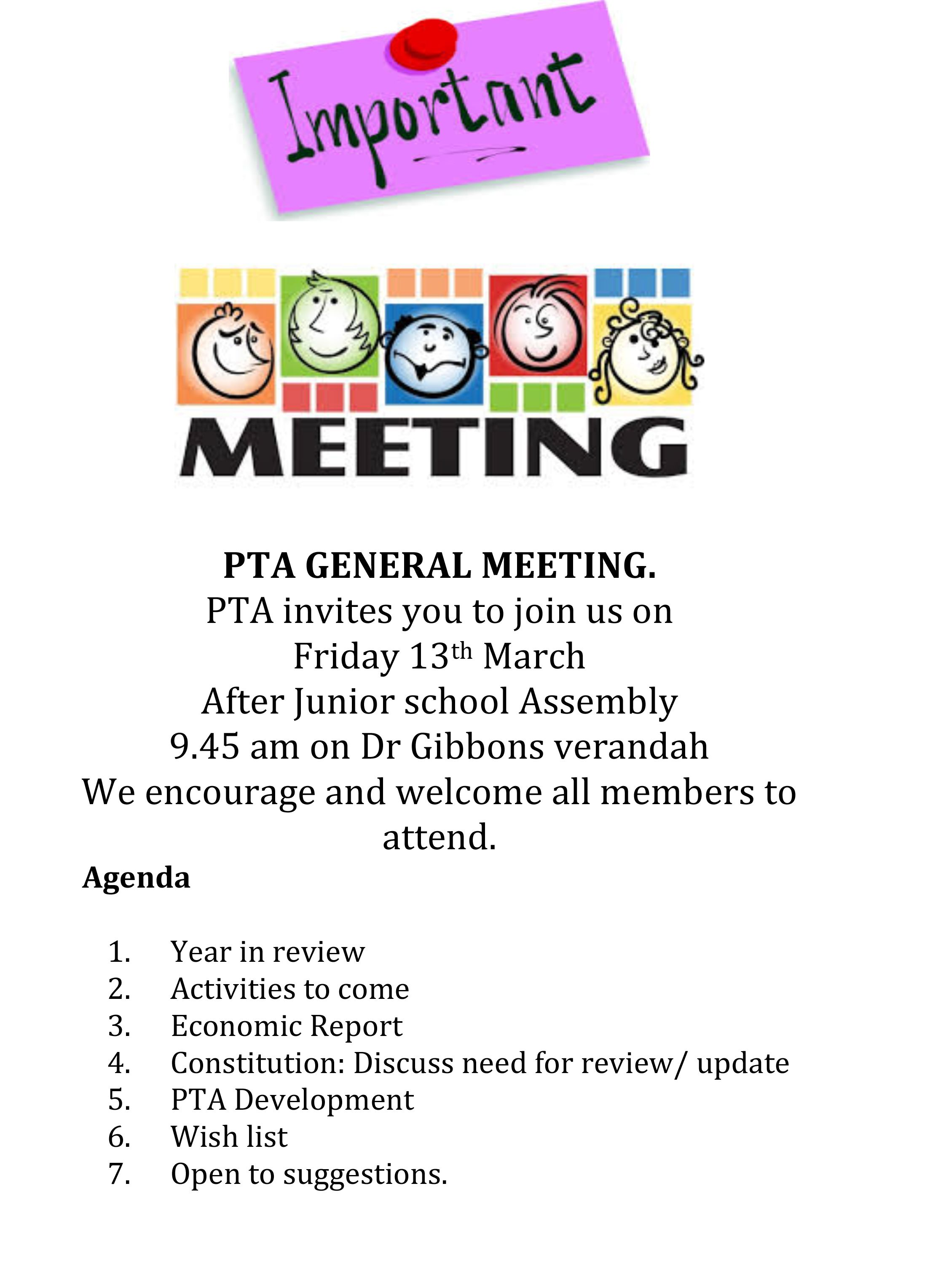 Image Result For Invitation To Pta General Meeting Pta Pinterest