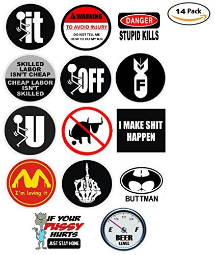 F BOMB Funny Hard Hat StickersWelding Helmet DecalsMotorcycle Toolbox USA