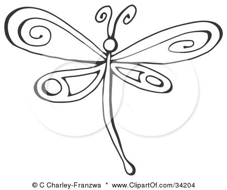 Google Image Result For Http Images Clipartof Com Small 34204 Clipart Illustration Of A Black And White Dragonfl Dragonfly Clipart Dragonfly Drawing Clip Art