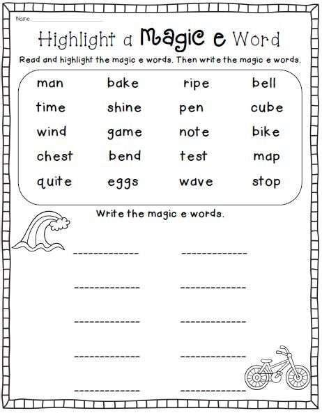 Phonics Reading Worksheets Real World