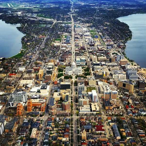 Madison A View From The Air City Pictures City Madison Wisconsin