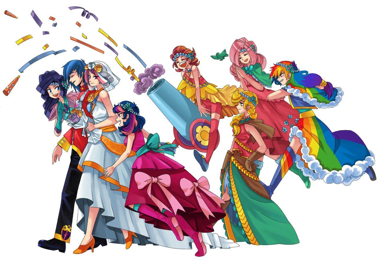 Anime My Little Pony wedding party | My little pony, Pony ...