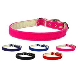 Velvet 3#47;8#34; Plain Cat Safety Collar, Dog Clothing, Apparel for Dogs, Dog Fashion