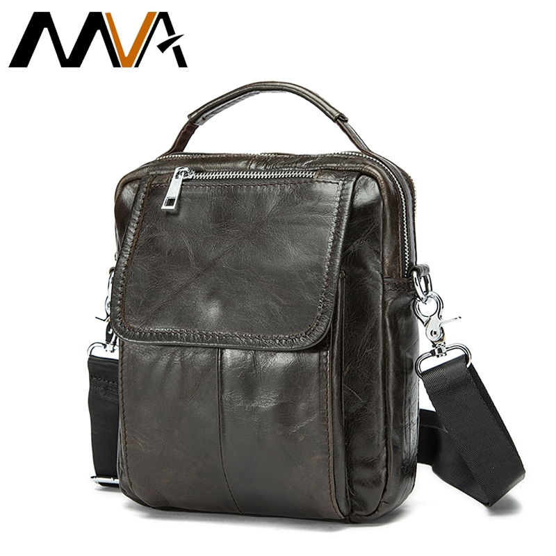 283745b8604b 27.78  Buy here - MVA Genuine Leather Men Bag Small Shoulder Crossbody Bags  Men Messenger