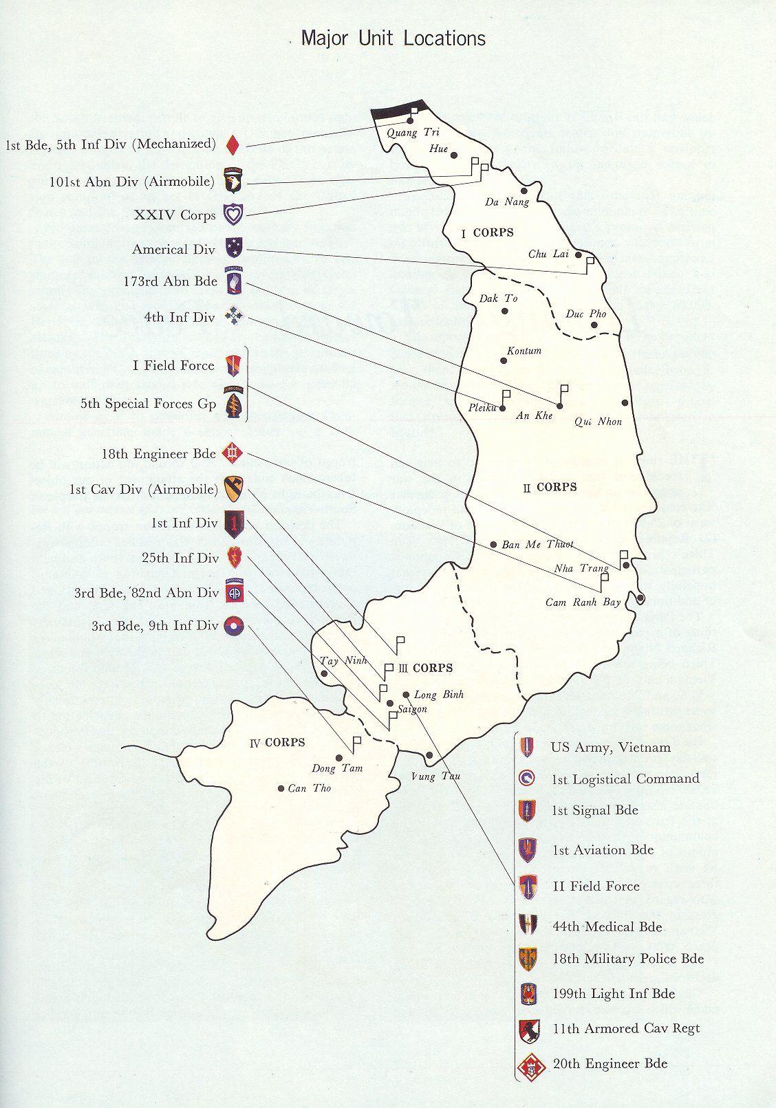 Map Military Of Vietnam