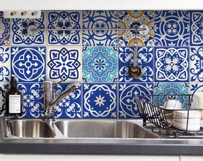 Conjunto de 24 Azulejos Calcomanías Azulejos Pegatinas ...