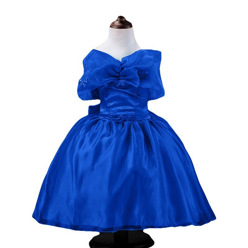 e9078377165a 2015 new high quality girl blue Cinderella dress costume