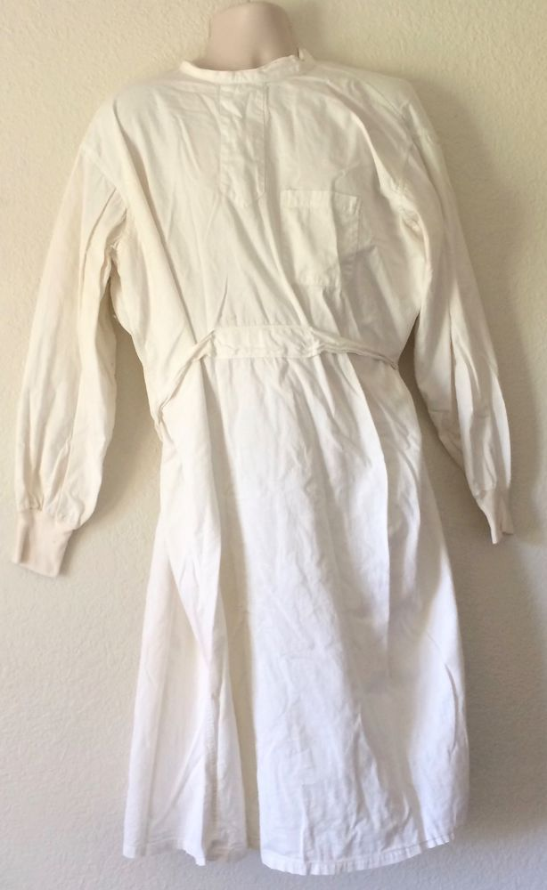 1940s/50s Doctors Surgical Gown Creepy Mad Scientist Halloween ...