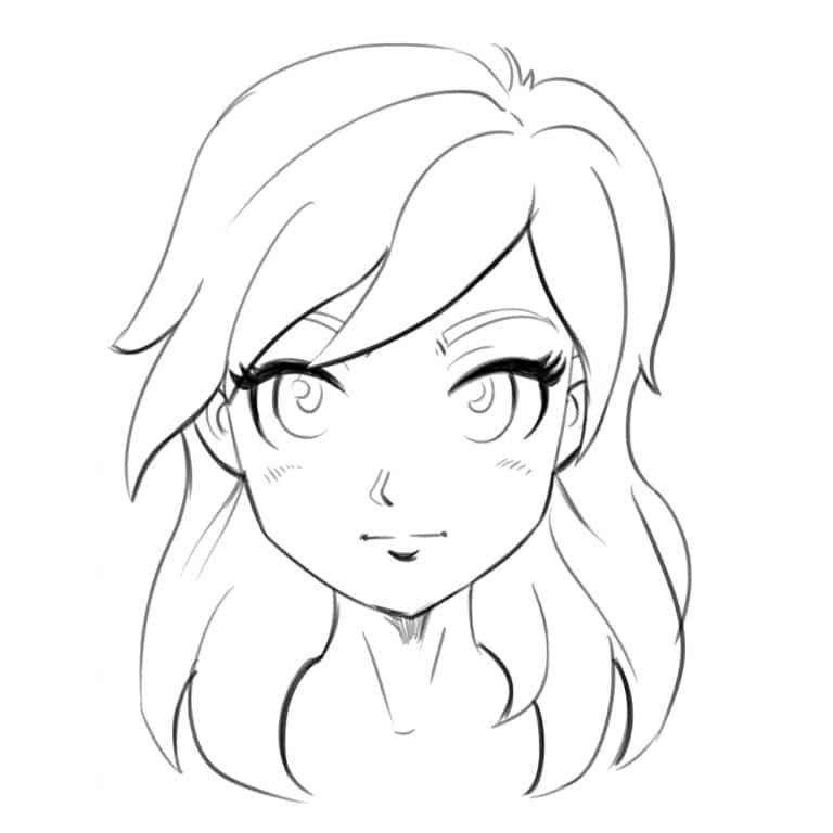 2 Ways To Draw An Anime Manga Face Front And 3 4 Views Improveyourdrawings Com In 2020 Drawings Character Drawing Drawings To Trace