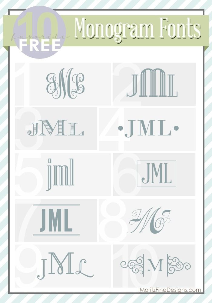 Best Font For Monogram : monogram, Monogram, Fonts, MoritzFineBlogDesigns.com, Fonts,, Lettering