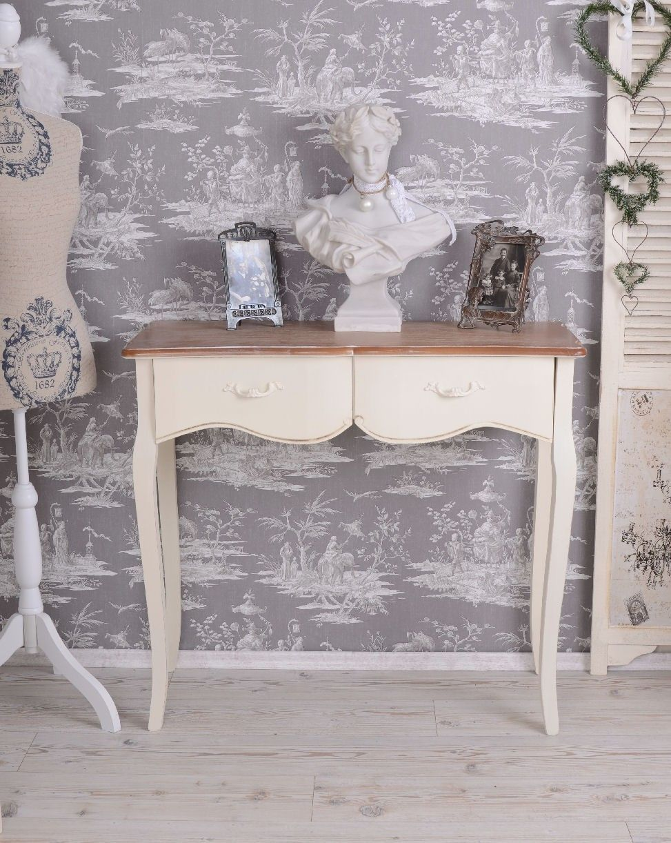 wandtisch landhausstil shabby vintage konsole und. Black Bedroom Furniture Sets. Home Design Ideas