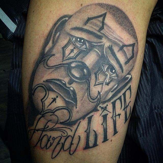Sad Clown Tattoo Chicano