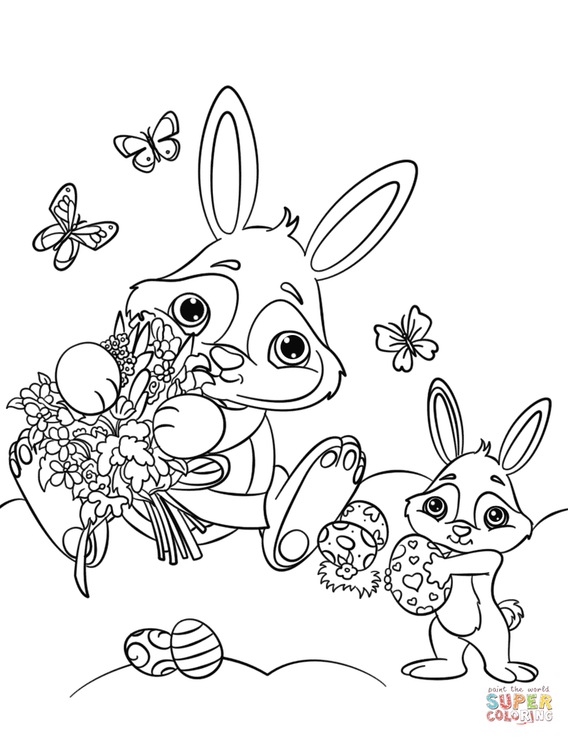 Awesome Easter Bunny Coloring Pages To Welcome The Easter Day Free Coloring Sheets Bunny Coloring Pages Easter Bunny Colouring Coloring Pages