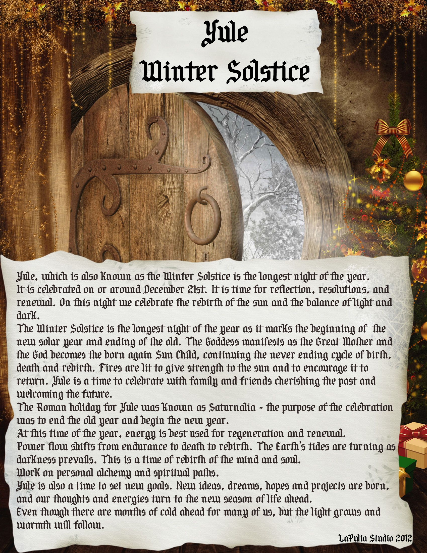 Yule - Pagan Holiday information page 1 | ❤✦☀✯ Spell ...