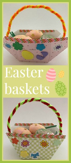How To Make An Easter Basket With Glittery Eggs Easter Fun For