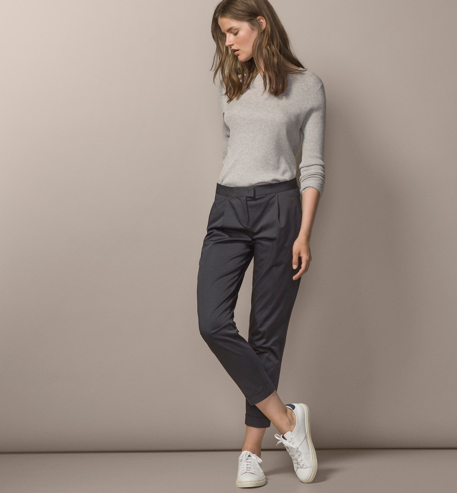 PLEATED CHINOS - Trousers - WOMEN - United States ...