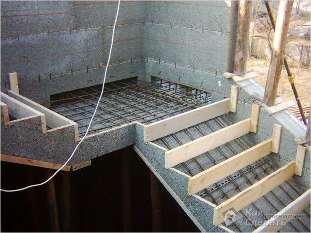 Het maken van trap bekisting metselen pinterest concrete