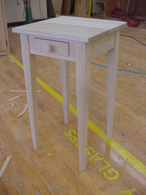 Poplar Unfinished Shaker Style Table Table Style Table Shaker