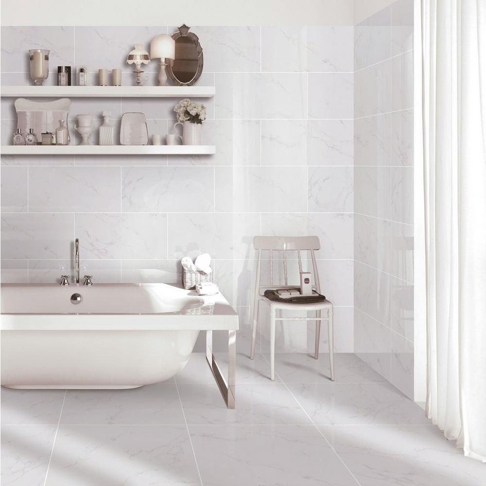 Carrara Polished Porcelain Tile Floor Decor Gray Porcelain Tile Polished Porcelain Tiles Porcelain Tile Bathroom Floor