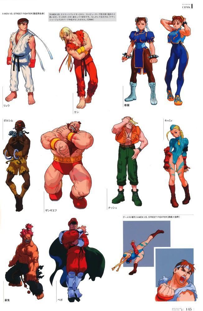 X Men Vs Street Fighter Artwork Street Fighter Art Street Fighter Characters Street Fighter