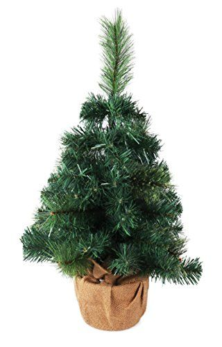 small artificial christmas tree with burlap base 24 tall continue to the product at the image link - Small Artificial Christmas Tree