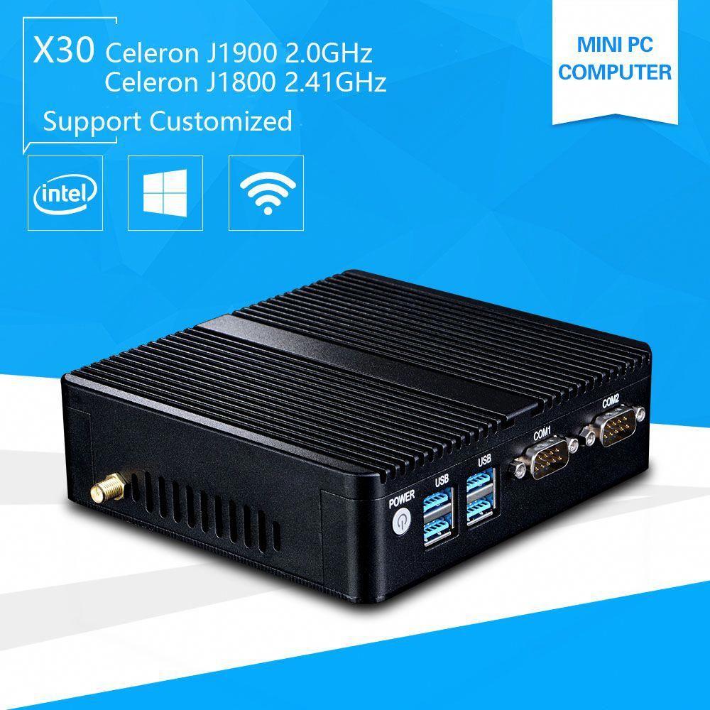 Mini Pc with Windows 10 celeron 3755 J1800 Quad core J1900 2 41GHz