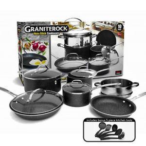 Granitestone 10 Piece Nonstick Pots & Pans Set, 10