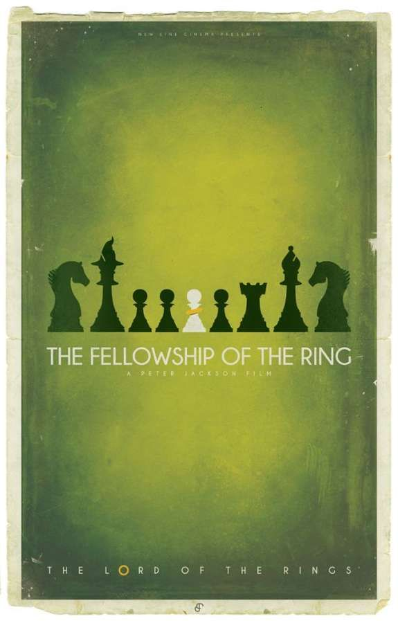 Chess-Incorporated Fantasy Posters - The Lord of the Rings Chess Posters Display Characters as Pawns (GALLERY)