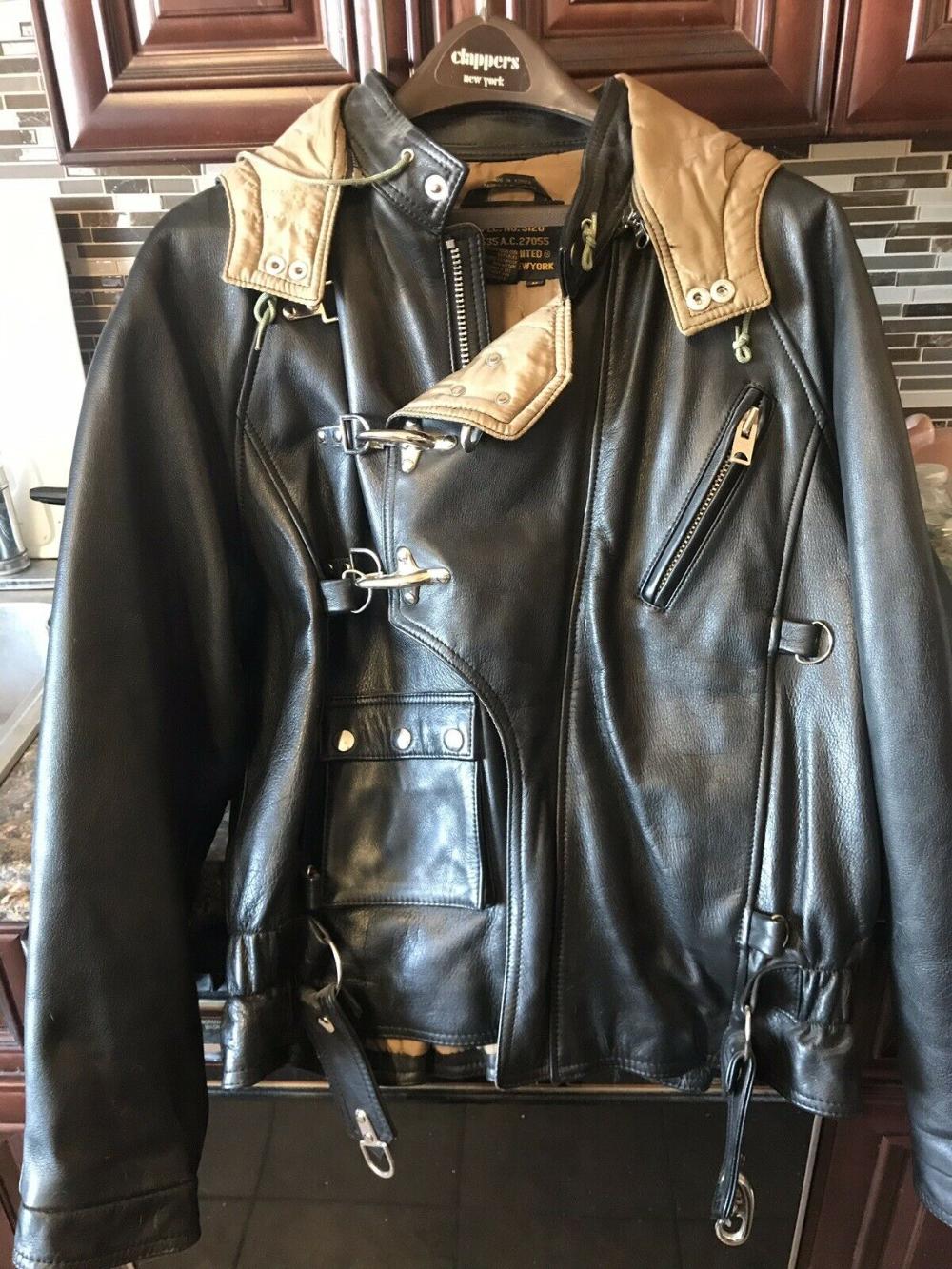 Vintage Avirex Leather Flight Jacket Mens Size Med Mint