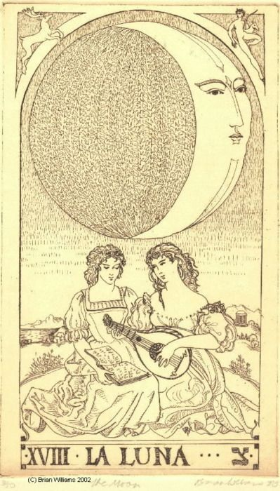 Image result for vintage moon tarot