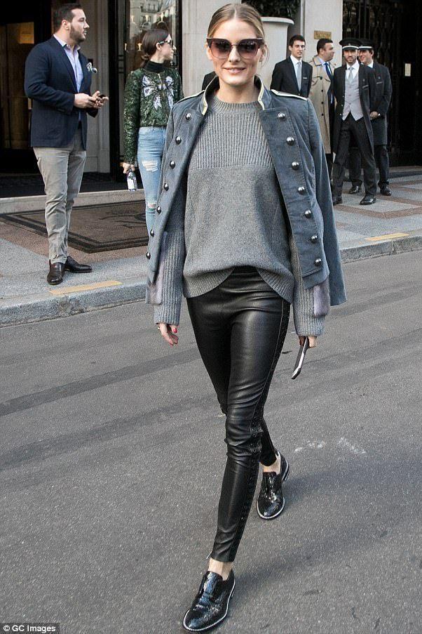 02f295b418d0 Olivia Palermo wearing Fendi Iridia Ff0149 s Sunglasses in Opal Burgundy