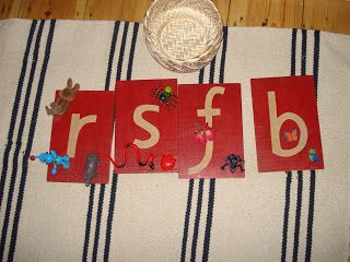 Matching objects to letters