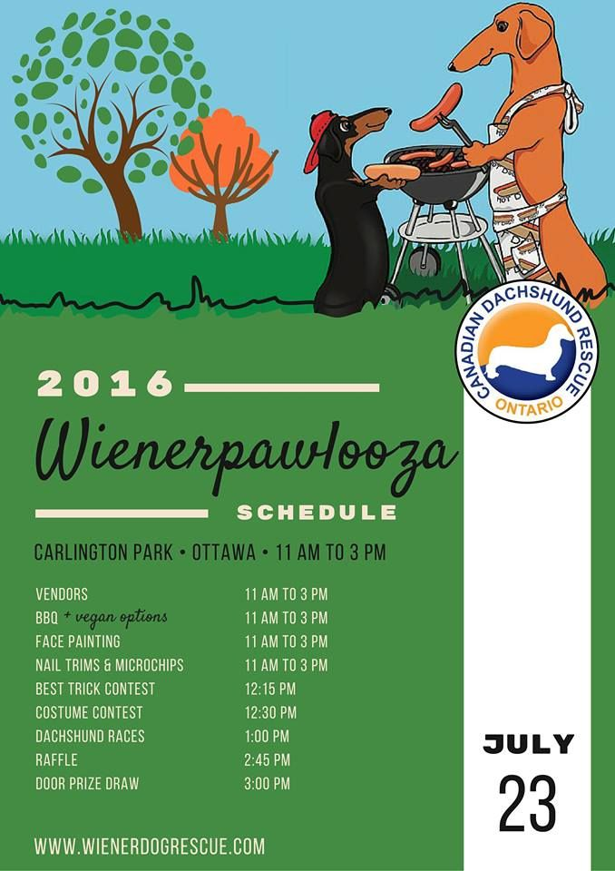So Excited To Reveal The Wienerpawlooza2016 Schedule Join Us